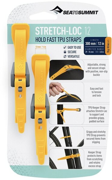 Sea to Summit Stretch-Loc TPU Straps (2-Pack)
