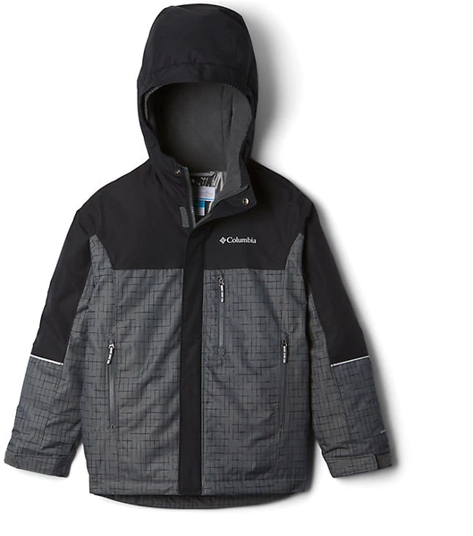 Columbia Mighty Mogul Jacket - Kid's Color: Grill Check, Black