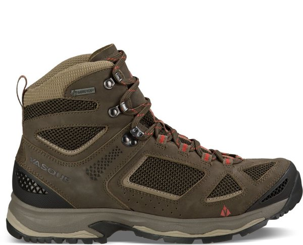 Vasque Breeze III GTX - (Wide & Narrow Sizes Available) - Men's Color: Brown Olive/Bungee Cord