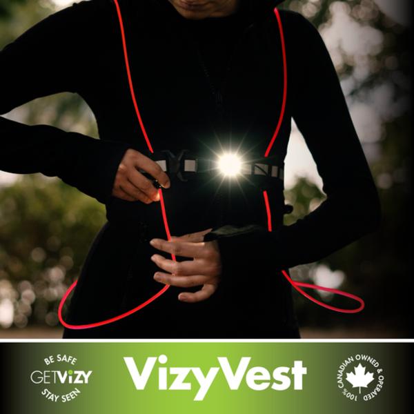 Get Vizy Vizy Vest 2.0 - Rechargeable LED Vest
