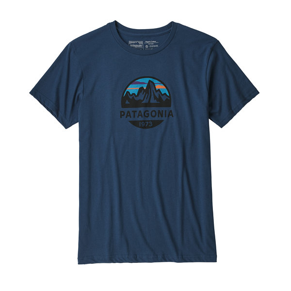Patagonia Fitz Roy Scope Organic Cotton T-Shirt - Men's Color: Stone Blue