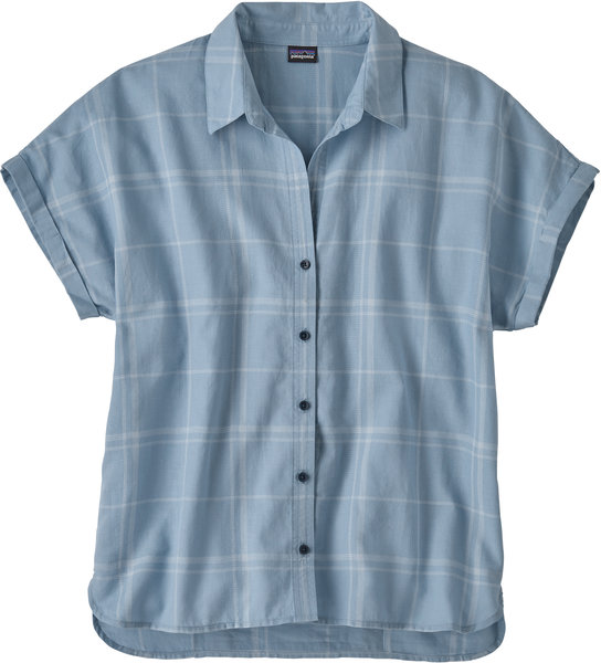 Patagonia Lightweight A/C Shirt - Women's Color: Harvest Windowpane: Berlin Blue