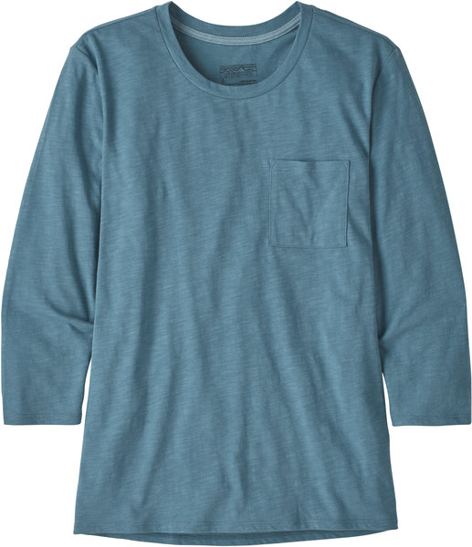 Patagonia Mainstay 3/4 Sleeved Top - Women's Color: Pigeon Blue