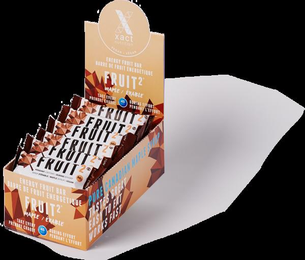 Xact Nutrition FRUIT2 Energy Fruit Bar - Maple - Box of 24