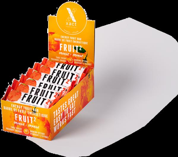 Xact Nutrition FRUIT2 Energy Fruit Bar - Orange - Box of 24