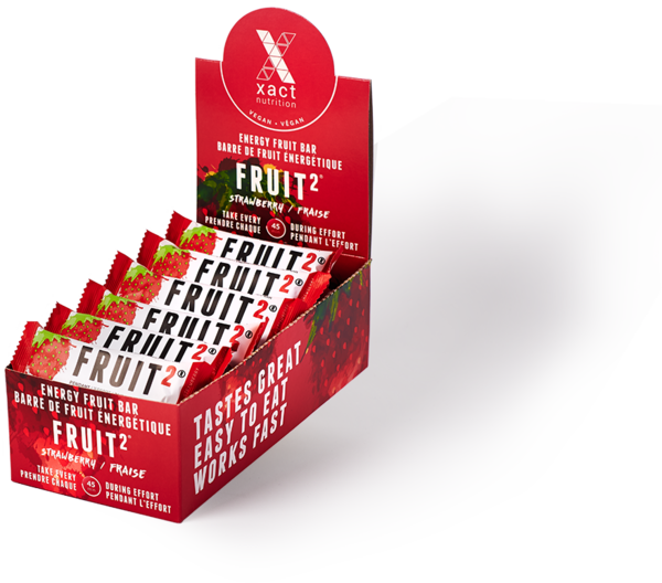 Xact Nutrition FRUIT2 Energy Fruit Bar - Strawberry - Box of 24