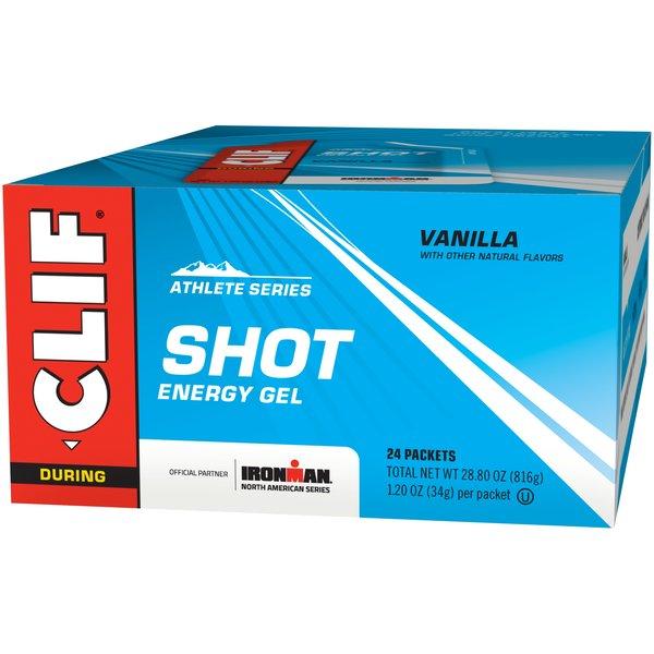 Clif Shot Energy Gel - Vanilla - Box of 24 (34g each)