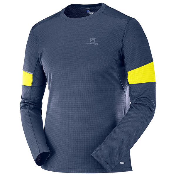 Salomon Agile Long Sleeve Tee - Men's Color: Night Sky