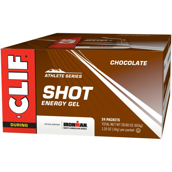 Clif Shot Energy Gel - Chocolate - Box of 24 (34g each)