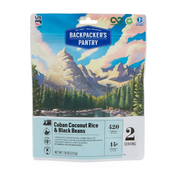Backpacker's Pantry Cuban Coconut Rice & Black Beans (2 Servings)