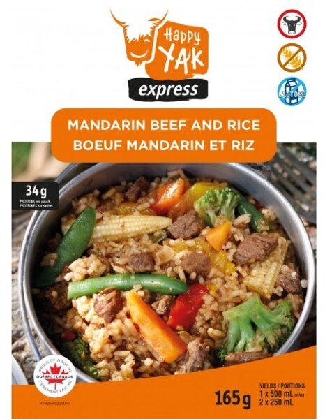 Happy Yak Mandarin Beef and Rice (gluten free,lactose free)