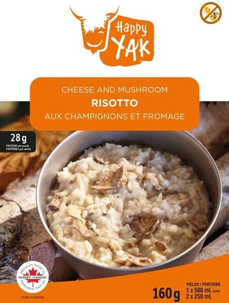 Happy Yak Cheese & Mushroom Risotto