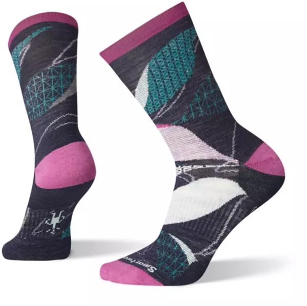 Smartwool Kimono Leaf Crew Socks - Women's Color: Deep Navy