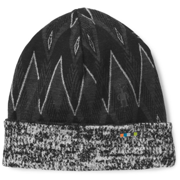 Smartwool Merino 250 Pattern Cuffed Beanie Color: Black-Charcoal Heather