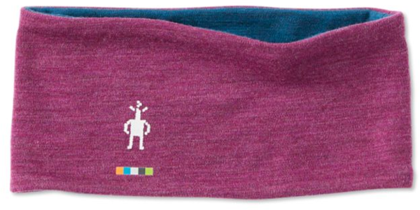 Smartwool Merino 250 Reversible Headband Color: Sangria Heather-Deep Marlin Heather