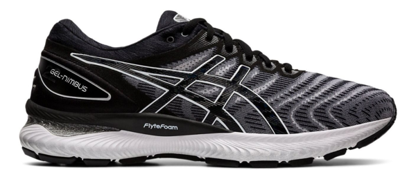 Asics Gel Nimbus 22 (Available in Wide Width) - Men's Color: White/Black