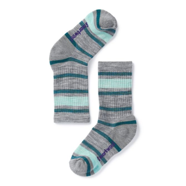 Smartwool Striped Hike Light Crew Socks - Kid's