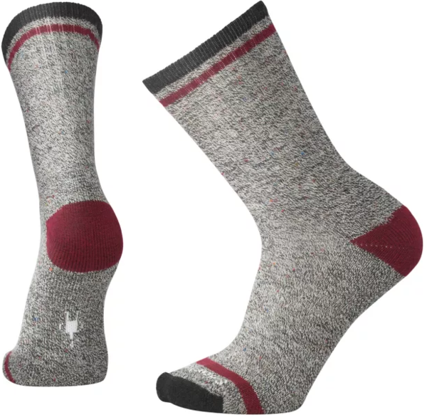 Smartwool Larimer Crew Socks - Men's Color: Charcoal Heather/Tibetan Red Heather