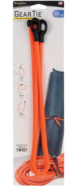 """Nite Ize Gear Tie Loopable Twist Tie - 24"""" - 2 Pack"""