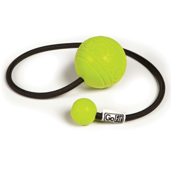 GoFit GoBall Targeted Massage Ball on Rope