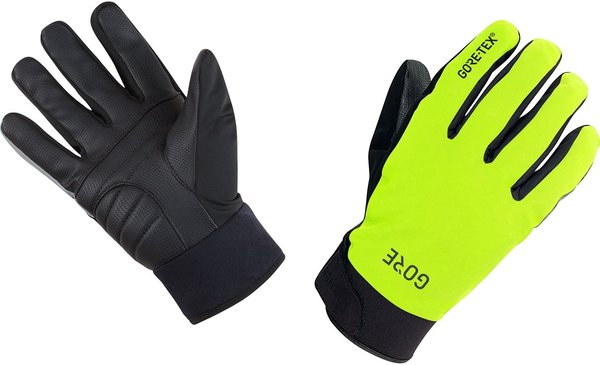 Gore Wear GORE C5 GORE-TEX Thermo Gloves Color: Neon Yellow/Black