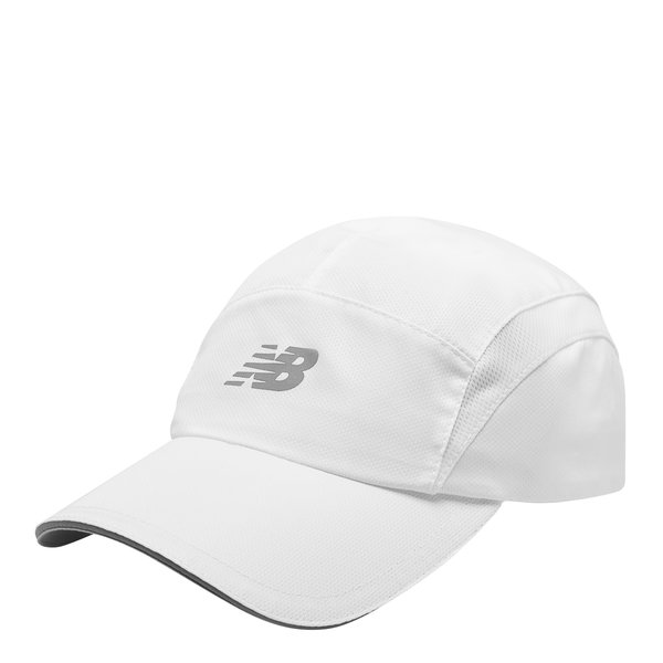 New Balance° 5 Panel Performance Hat Color: White