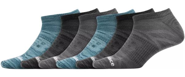 New Balance° Flat Knit No Show Socks - Men's