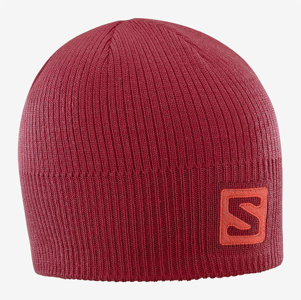 Salomon Logo Beanie Color: Biking Red