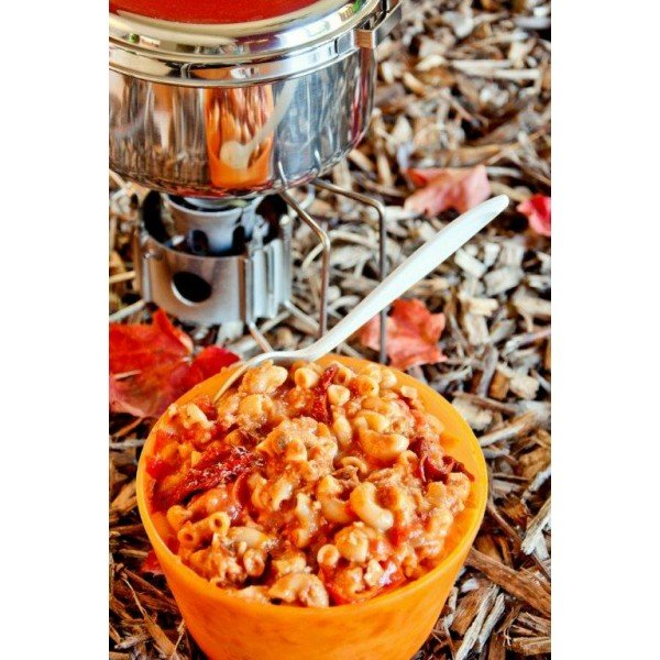 Happy Yak Macaroni with tomato sauce and Parmesan (vegetarian)
