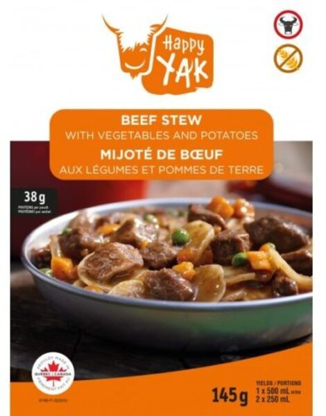 Happy Yak Beef Stew with Vegetables and Potatoes (gluten free)