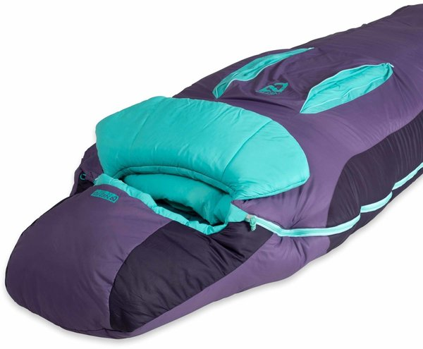 NEMO Forte Synthetic Sleeping Bag (-9C/15F) - Women's Color: Tidepool / Shaded Thistle