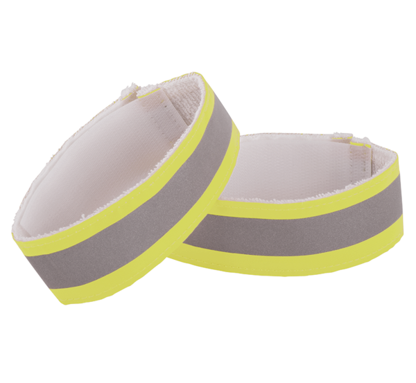 Nathan Reflective Ankleband Pair Color: Hi-Viz Yellow