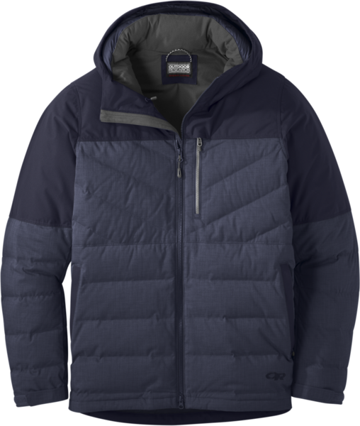 Outdoor Research Blacktail Down Jacket - Men's Color: Naval Blue/Ink