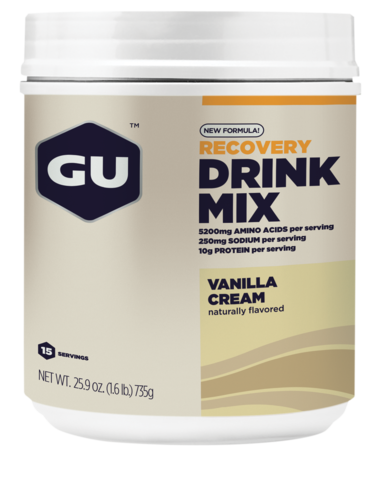 GU Recovery Drink Mix - Vanilla Cream (750g) - 15 Servings