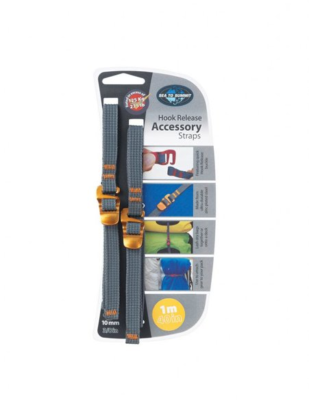 "Sea to Summit Hook Release Accessory Strap - 10mm/3/8"" - 1.5m/60"" - Pair"