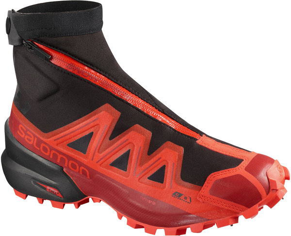 Salomon Snowspike CSWP Color: Black/Racing Red/Red Dahlia
