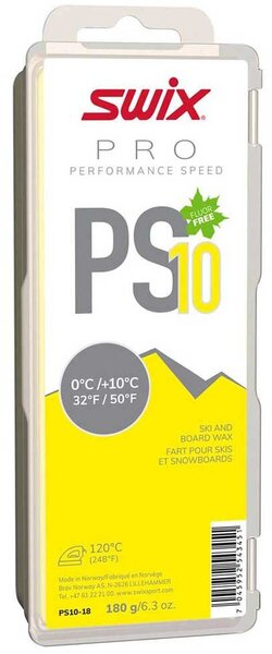 Swix PS10 Yellow 0°C/+10°C 180G