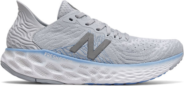 New Balance Fresh Foam 1080v10 (Available in Wide Width) - Women's Color: Light Cyclone with Team Carolina & Grey