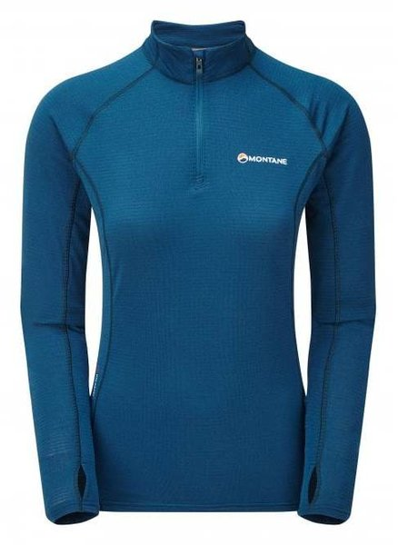 Montane Allez Micro 1/2 Zip Midlayer Top - Women's Color: Narwhal Blue