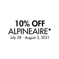 10% Off Alpineaire. July28 - August 3, 2021