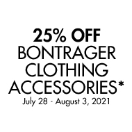 25$ Off Bontrager Clothing Accessories. July 28 - August 3, 2021