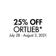 25% Off Ortlieb. July 28 - August 3, 2021