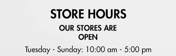 Bushtukah stores are open for bicycle repair only. Store hours: Wednesday - Sunday 10:00 am - 4:00 pm