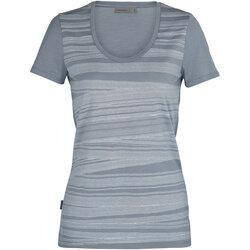 Icebreaker Tech Lite Short Sleeve Scoop 1000 Lines Tee - Women's