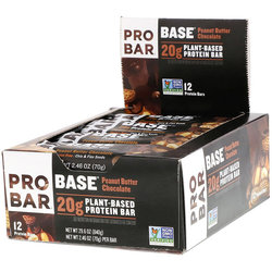 ProBar Base Protein Bar - Peanut Butter Chocolate (2.46oz) - Box of 12