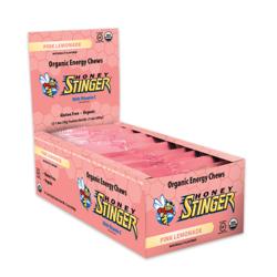 Honey Stinger Organic Energy Chew - Pink Lemonade (50g) - Box of 12