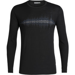 Icebreaker Tech Lite Long Sleeve Crewe Snow Wave - Men's