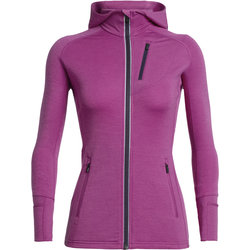 Icebreaker Quantum Long Sleeve Zip Hood - Women's