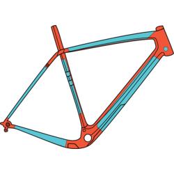 Ridewrap Gloss Covered Frame Protection Kit for Trek Gravel/CX