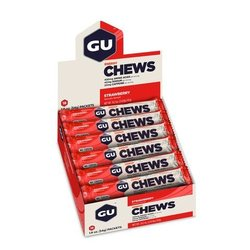 GU Energy Chews - Strawberry - Box of 18 packs (54g each)